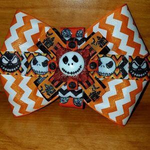 Other - Halloween Jack Skellington hairbow